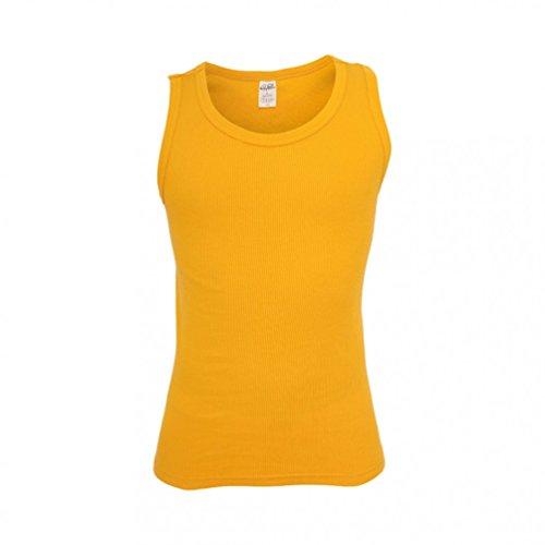 Mens Tanktop Urban Classics Streetwear Canotta Uomo giallo 1
