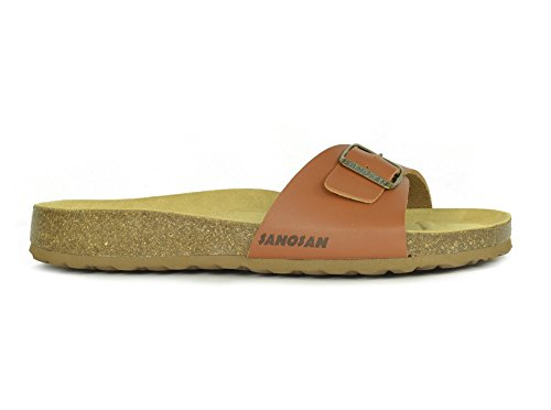 Sandales tongs à bout ouvert Malaga sanosan Étui à rabat pour femme New Sangle réglable Marron - marron