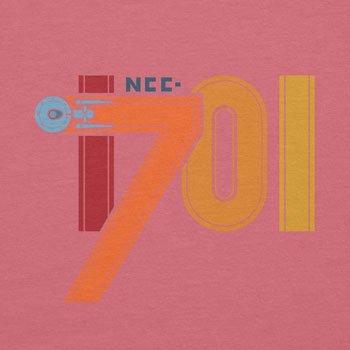 NERDO - NCC-1701 - Damen T-Shirt Pink