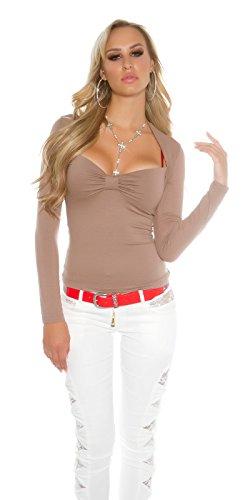 In-Stylefashion - Sweat-shirt - Femme marron marron foncé L/XL marron foncé