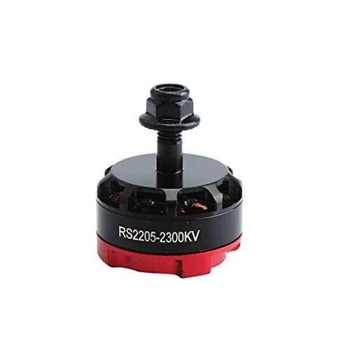 ngzhongtu RS2205 2300KV 2205 CW / CCW Brushless Motor 3-4S für FPV RC Racing Drone Multicopter Doppelarretierung CW / CCW Gegenmuttern - Rot
