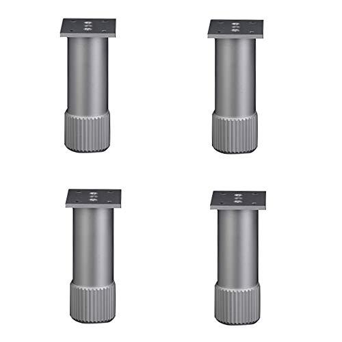 EIN Satz Von 4 MöBelfüßEn Aluminium HöHenverstellbare FußStüTzen GehäUse-StandfüßE FüßE (9 GrößEn) -