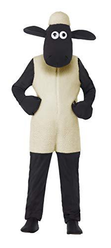 Smiffys Kinder Unisex Shaun das Schaf Kostüm, Jumpsuit und Kopfteil, Größe: M, - Shaun Das Schaf Kostüm Kind