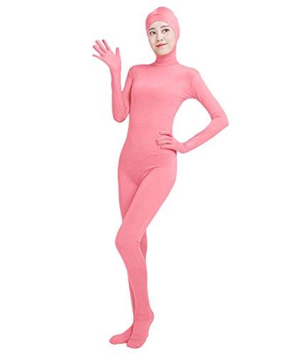 NiSeng Erwachsener und Kind Ganzkörperanzug Breathable Catsuit Face Offene Anzug Suit Kostüm Rosa XL