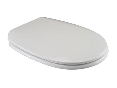 Saniplast passepartout sedile wc, resina termoindurente, bianco, 44.8x36x4.8 cm