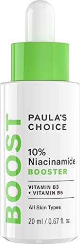 Paula's Choice 10% Niacinamide Booster Serum - Siero Riduce i Pori Dilatati, i Brufoli & i le Macchie - con Vitamina B3 & B5 - Tutti i Tipi di Pelle - 20 ml