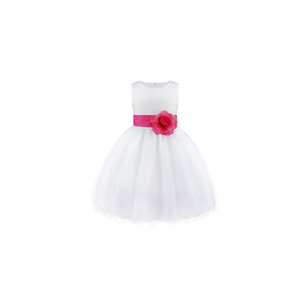 Sofyana Baby Girls Satin Princess Gown Birthday Party Wear Long