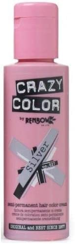 Crazy Color by Renbow Silver No.27 Semi-Permanent Cream 100ml