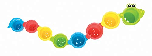 Playgro Stapelbecher Krokodil, 8 Stück, Ab 6 Monate, Croc Cups, Bunt, 40087