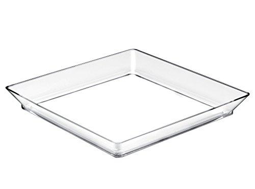 Gold Plast Plateau Medium Plate-12 par paquet 130x130 mm transparent