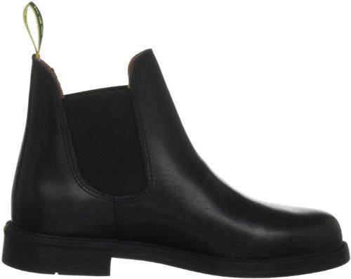 Tuffa Polo Kinder Jodhpurstiefel aus Leder Schwarz