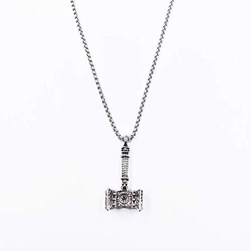 kjaljirlk Titan-Stahl-Halskette Für Männer Und Frauen Mit Hammer Fitness-anhänger Herren Hip-hop Trim Anhänger 60cm Hammer -