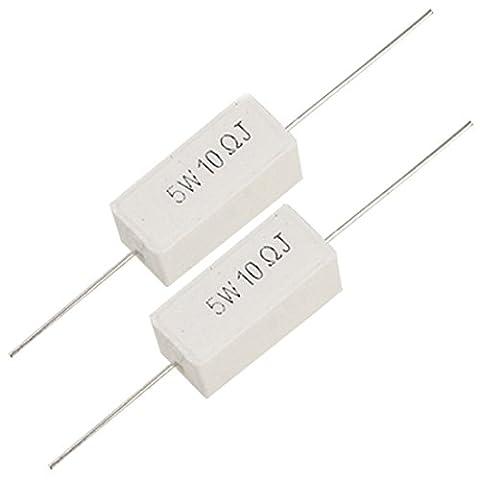 TOOGOO(R) 5W 10 Ohm 5% Wirewound Cement Power Resistors x 10 Pcs