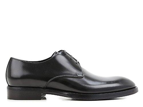 Chaussures à lacets Dolce&Gabbana homme en cuir noir - Code modèle: A10102 AC460 80999