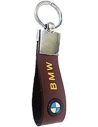ORAS BMW Leather Keychain - (8cmL X 6cmB, Brown)