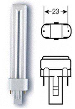 Osram DULUX S 9W/827 G23 (60W) 167mm FS1 Kompakt-LLp Interna f.KVG