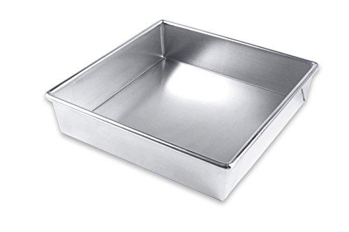 Square Brownie Pan (USA Pan Bare Backgeschirr, Aluminium Quadratische Kuchenform - glatt 9.5x9.5 Not Applicable)