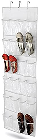 Wander Agio 24-pocket Over-the-door Womens Shoes Kids Hanging Accessories Closet Organizer White by Wander Agio