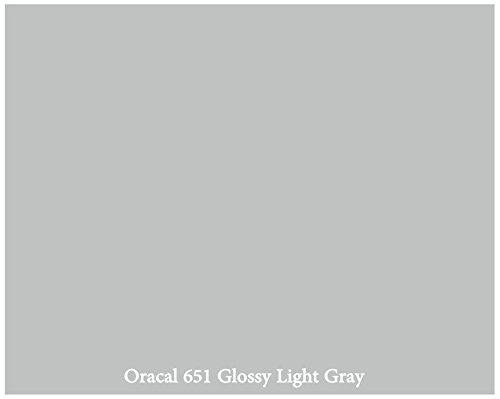 12-x-10-ft-roll-of-glossy-oracal-651-light-gray-repositionable-adhesive-backed-vinyl-for-craft-cutte