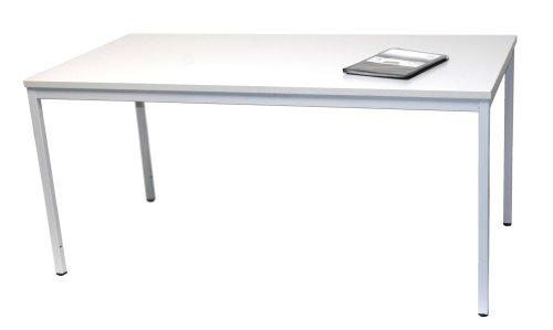 Schreibtisch (Stahl) LxB: 180x100 cm, lichtgrau, Marke: Szagato (Arbeitstisch, Computertisch, Bürotisch, Druckertisch)