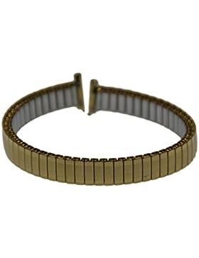 Rowi FixoflexS Zugband 8mm Uhrenarmband Vergoldet Flex Armband Uhr Band 385005