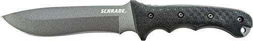 Schrade Outdoormesser Extrem Survival Carbonstahl 1095 beschichtet Nylonscheide mit abnehmbarer Vortasche -