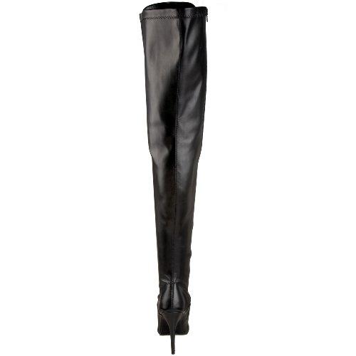 Pleaser  SEDUCE-3024, Bottes femme Noir (Blk Str Pu)