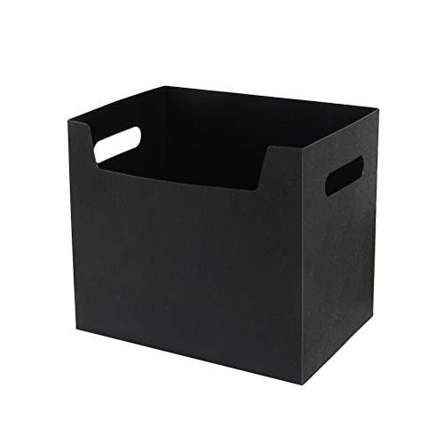 Toyvian Buch Aufbewahrungsbox Office Desktop Kosmetik Geschirr Transparent Storage Kit (Schwarz)