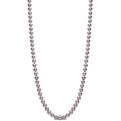 Kimura Pearls-Collana in oro bianco 9 kt, con colori naturali, AA-Collana di perle d