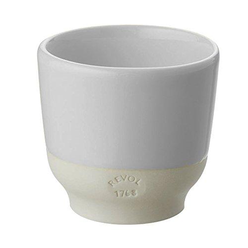 Revol RV648910 Tasse Espresso, Porcelaine, Statusgris, 6,5 x 6,5 x 6 cm