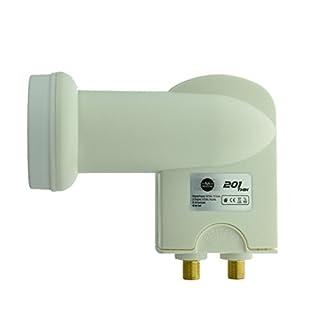 NA-Digital Twin LNB Zuverlässiges HDTV 3DTV 4K UHD Full HD LNB für 2 Teilnehmer inkl. Wetterschutzgehäuse für alle Sat-Anlagen Digital I Signalempfänger Empfangskopf Sat-Empfänger I 201