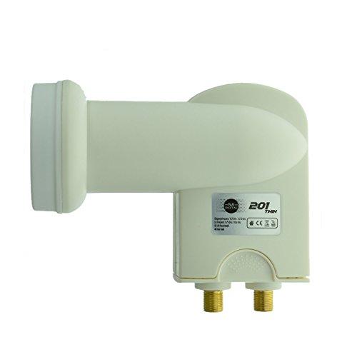 NA-Digital Twin LNB Zuverlässiges HDTV 3DTV 4K UHD Full HD LNB für 2 Teilnehmer inkl. Wetterschutzgehäuse für alle SAT-Anlagen Digital I Signalempfänger Empfangskopf SAT-Empfänger I 201 Multi-lnb-sat