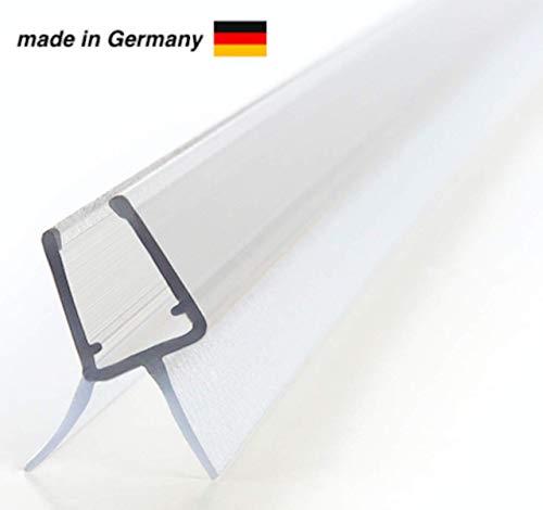 100cm Duschdichtung für 6mm, 7mm und 8mm Glasdicke - Ersatzdichtung für Duschtüren - Dichtlippe Glasdusche Glastür