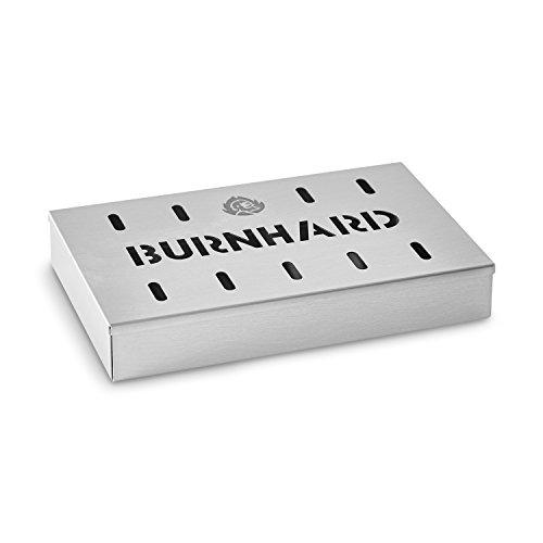 Räucherbox Edelstahl Grillzubehör für Gasgrill, Kohlegrill und Kugelgrill Aromabox von BURNHARD...