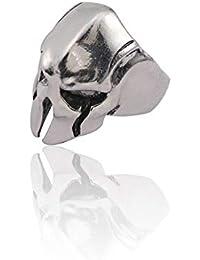 TRKLP Skull Punk Ring Para Hombres Joyería Regalos Vintage Hip Hop Anillos Ajustable 3D Animal Anillo