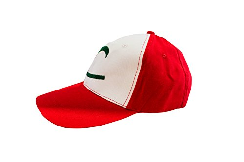 perfect for carnival /& cosplay costume for adults /& children Pokemon Trainer Ash Ketchum Cap Hat ladies men thematys