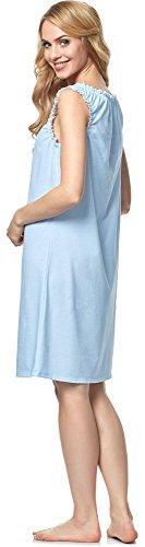 Italian Fashion IF Damen Stillnachthemd Ksena 0112 Himmelblau