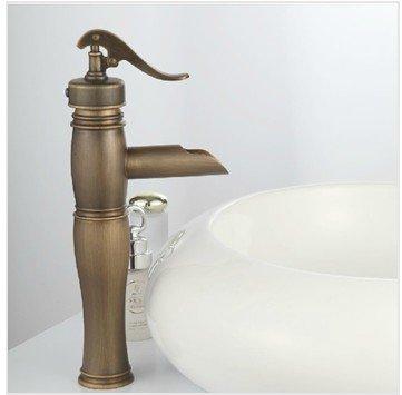 &zhou Robinet antique, robinet de cuivre en cuivre, robinet chaud et froid