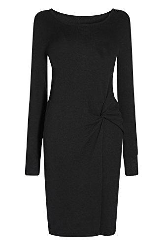 next Femme Robe Avec Torsade Sur Le Devant Noir