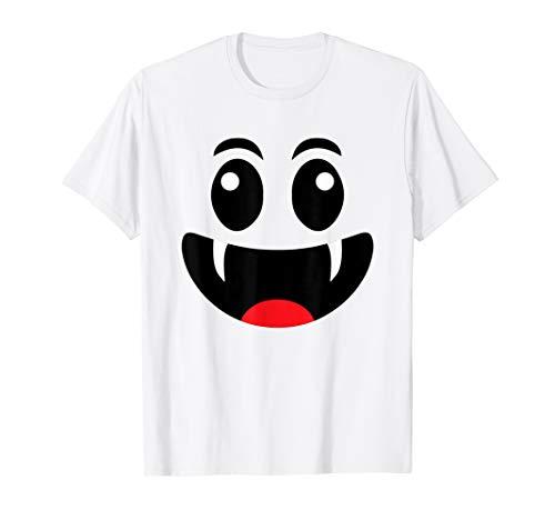 Vampir Lächelnd Gesicht Lustige Emoji Halloween Kostüm Hemd