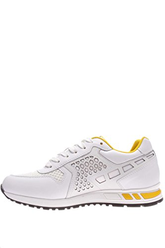 Nero Giardini Homme-Sneaker P604070U 707 Sneaker cuir/textile Blanc Cassé - blanc