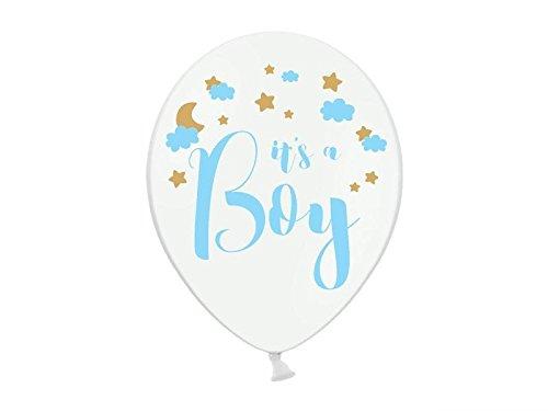 6 Luftballon Its a Boy Babyparty Pullerparty Geburt Ballons