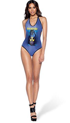 Thenice Damen Badeanzug Mehrfarbig Yellow Banana onesize danger