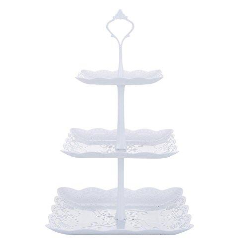 Househome Kuchen-Stand-klare runde Nachtisch-Inhaber, Maibaum-runder Partei-Baum-Kuchen-Ausstellungsstand, der Behälter-Kuchen-Anzeigen-Umhüllungs-Servierplatte für Hochzeiten, Gebäck, Geburtstag, St