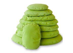 Artikelbild: Lex&Max/PETFAB - Bezug TIVOLI für OVAL Hundekissen-Füllung - Größe: 80 cm, Farbe: Lime Green