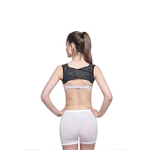 che Einstellbare Körperhaltung Korrektor Brace Net Atmungsaktive Rücken Wirbelsäule Stützgürtel Buckel Schulter Körperhaltung Gürtel,M ()
