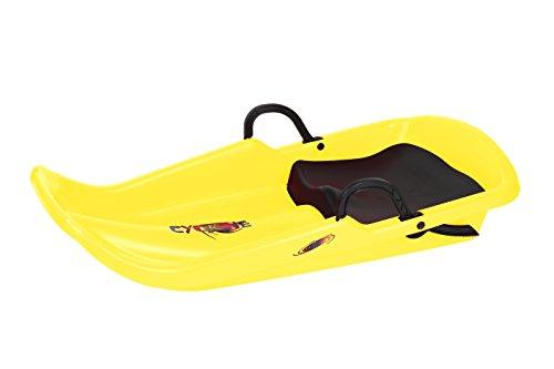 Plastkon bobs schlittenbob led di cyclone, colore giallo, 41106122