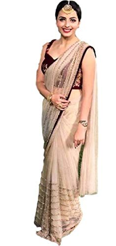 My Gorgeous Collection Women\'s Soft Net Saree