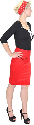 KÜSTENLUDER Bloody 50s PIN UP Pencil Skirt Rockabilly -