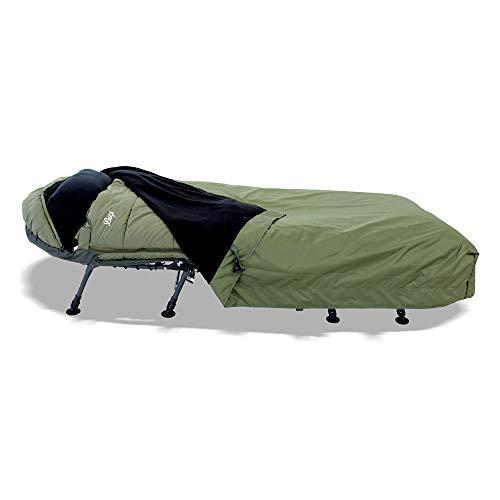 Lucx® Guardian Bedchair Cover Abdeckung für Angelliege & Schlafsack Schutzhaube für Karpfenliege Rain Cover mit Moskitonetz